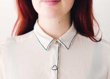 Перетворення сорочки із офісної в романтичну. Швидко і неординарно