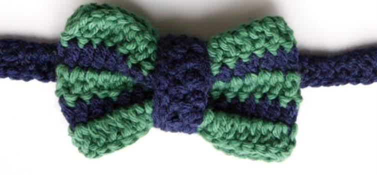 Як зв'язати гачком краватку-метелик. Фото-урок