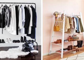 Стильні стійки для одягу в інтер'єрі. 25 ідей