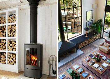 20 креативних методів зберігання дров для каміна
