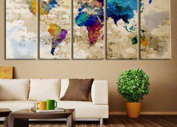 20 крутих дизайнів кімнати із використанням мапи