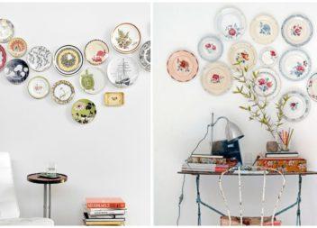 Декоративні тарілки у інтер'єрі. 20 фото-ідей