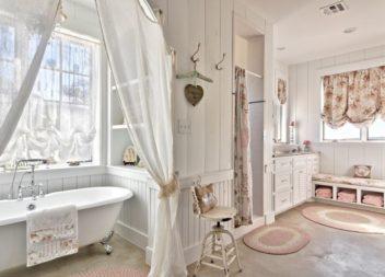 Вишуканий стиль прованс у інтер'єрі ванної кімнати. 25 фото