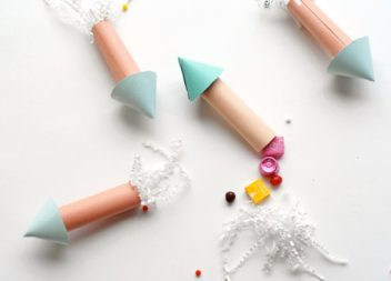 Ідея для дитячого свята: ракета із солодощами