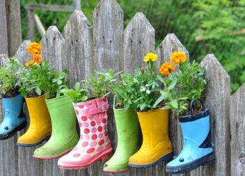 Квіткові горщики із старого взуття. 25 ідей