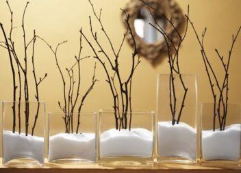 Декоративні гілки в інтер'єрі. 20 ідей
