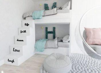 27 ідей інтер'єру дитячої кімнати із двоярусним ліжком