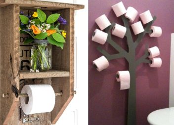 Креативні тримачі та полички для туалетного паперу. Ідеї