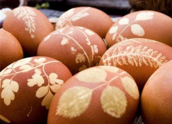 Традиційний метод фарбування яєць до Пасхи. Майстер-клас