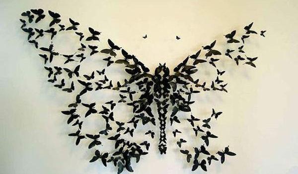 Декоруємо стіни паперовими метеликами. 20 ідей