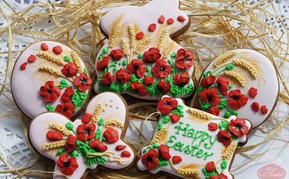 Пасхальне печиво з малюнком із глазурі. 35 ідей