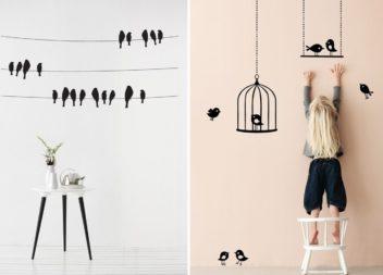 Птахи на стінах. 30 ідей для інтер'єру
