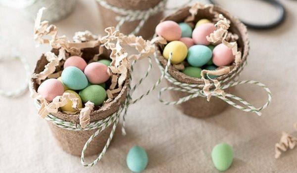 """Ідея солодкого подарунку похресникам """"Яйця у кошику"""""""