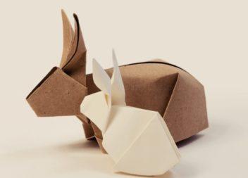 Великодній кролик в техніці орігамі. 5 відео майстер-класів
