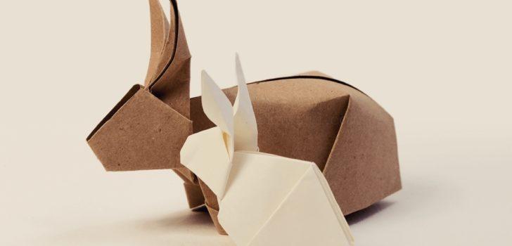 Великодній заєць. Оріґамі. 5 ідей