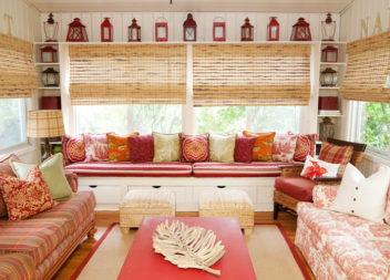 Бамбукові штори в інтер'єрі. 30 ідей