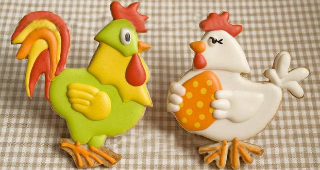 """Великоднє печиво """"Курочки та курчатка"""". 25 ідей"""