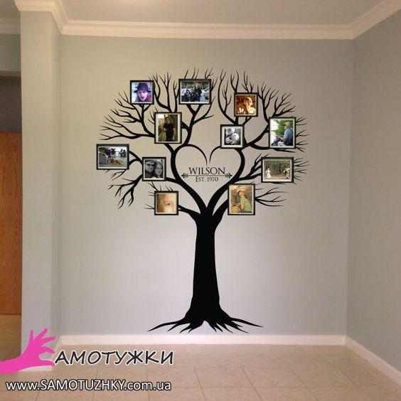Сімейне дерево на стіні 15 ідей для втілення Самотужки