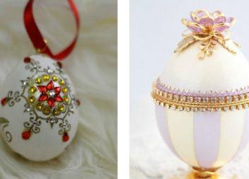 Великодні яйця з декоративним камінням
