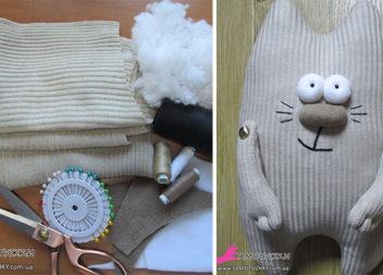 Шиємо котика-подушку зі старого светра: докладний майстер-клас