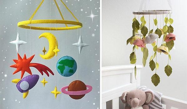 Мобіль на дитяче ліжечко своїми руками: 24 ідеї + майстер-класи