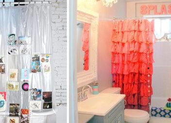 Креативні фіранки для ванної кімнати