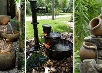 Садові фонтани: 23 надзвичайно креативні ідеї