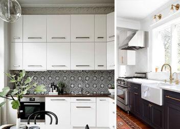21 ідея для оформлення чорно-білої кухні