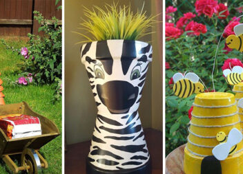 Декор для саду з квіткових горщиків - 23 оригінальні ідеї