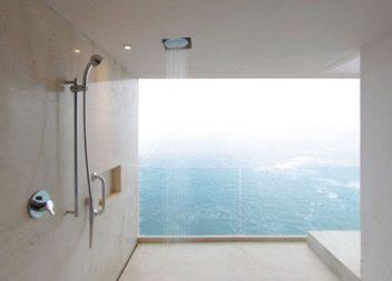 Ідеї для ванної кімнати: розкішний відкритий душ