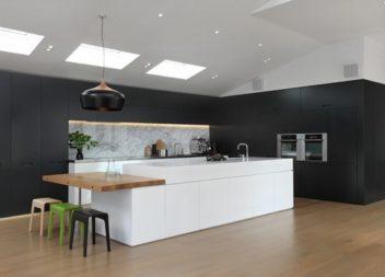 21 ідея для офрмлення чорно-білої кухні