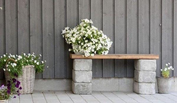 Бетонні блоки, як елемент декору саду та подвір'я. 20 ідей