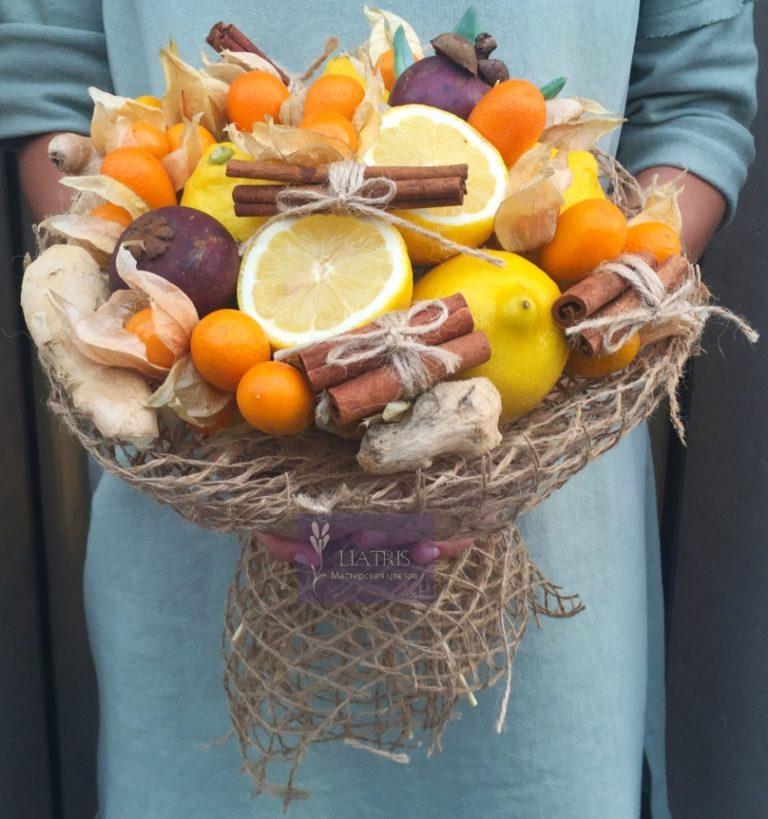 Букет из фруктов и ягод своими руками 65