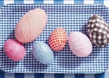 Декоруємо великодні яйця тканиною. Майстер-клас