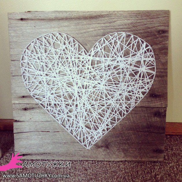 String heart wedding