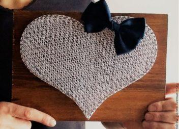Серце у техніці string art: докладний майстер-клас та ідеї