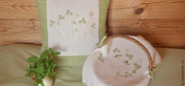 Як зробити відбитки рослин на тканині: майстер-клас