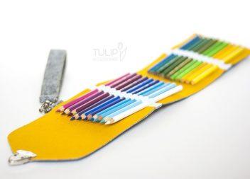 Яскравий фетровий пенал для олівців своїми руками: майстер-клас