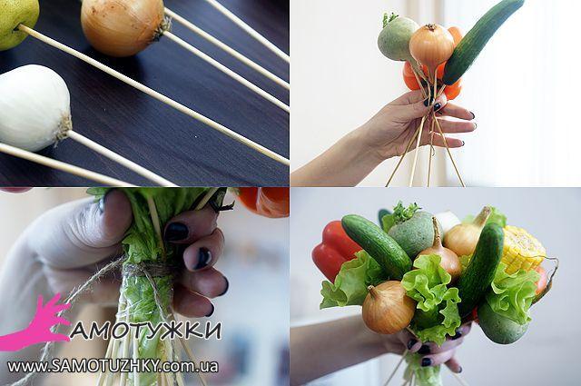 Букет своими руками из овощей и фруктов