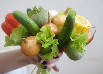 Букет з фруктів та овочів: майстер-клас