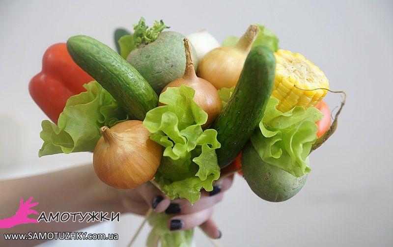 Букеты из овощей своими руками фото пошагово 55