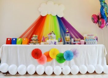 """Дитячий день народження у стилі """"Веселка"""": декор та деталі"""