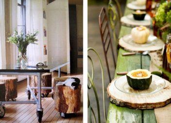 Декор для оселі та подвір'я із стовбурів дерев (20 ідей)