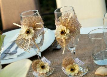 Декор весільних бокалів своїми руками - 24 фото-ідеї