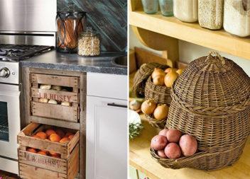Зберігання фруктів та овочів: 22 ідеї