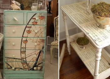 Декоруємо меблі у техніці декупаж (28 фото-ідей)