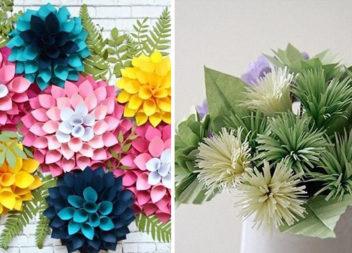 Паперові квіти: 14 майстер-класів