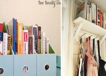 16 ідей для зберігання книг на кухні