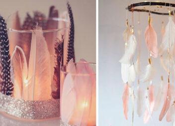 Декор та аксесуари з пір'ям: 20 фото-ідей