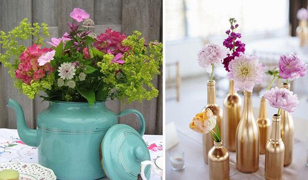 Оригінальні вази для квітів: використовуємо речі, що є під рукою